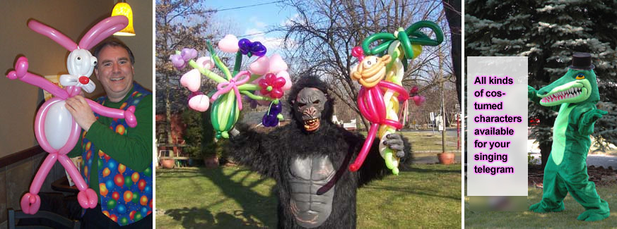 Balloon Deliveries - Singing gorilla