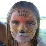 Cheetah Face Paint, Party Talent LLC