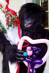 Gorilla with Roses