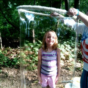 Girl in bubble