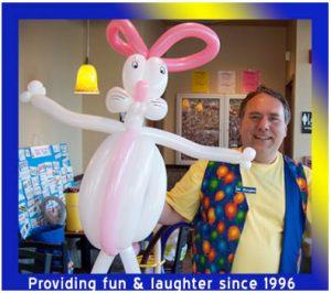 Singing Telegram Easter Bunny Balloon Sculpture