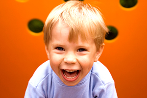 Laughing Boy with orange
